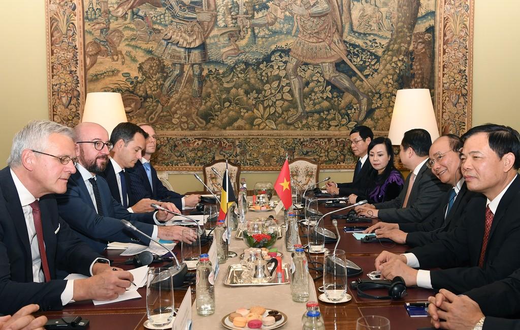 Thủ tướng Nguyễn Xuân Phúc hội đàm với Thủ tướng Bỉ - ảnh 1