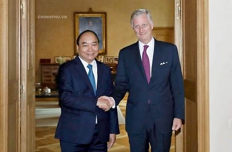 Thủ tướng Nguyễn Xuân Phúc hội kiến với Nhà vua Bỉ Phillippe - Ảnh: VGP