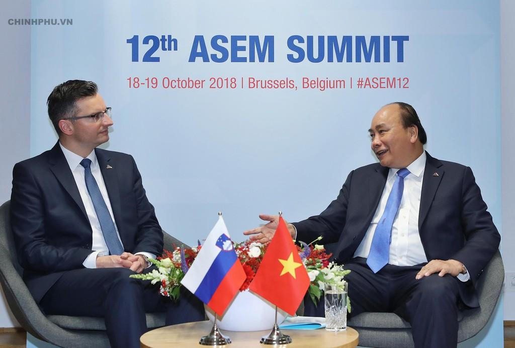 Thủ tướng tiếp xúc song phương nhiều lãnh đạo thế giới bên lề ASEM - ảnh 1