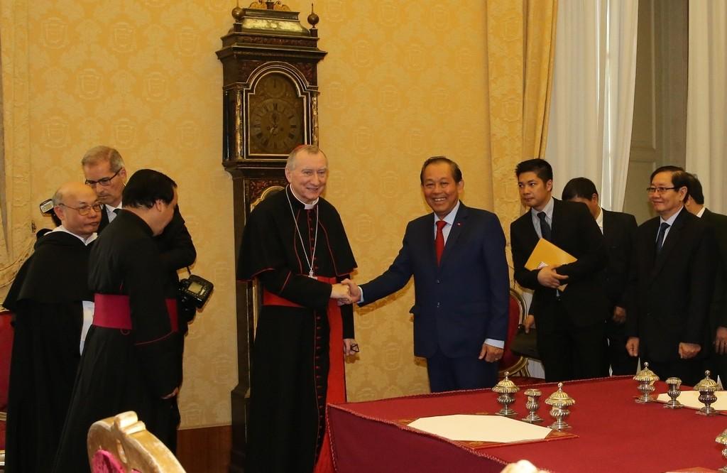 Phó Thủ tướng Trương Hòa Bình hội kiến Giáo hoàng Francis - ảnh 2