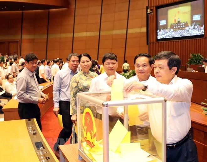 Hình ảnh các đại biểu Quốc hội bỏ phiếu bầu Chủ tịch nước - ảnh 9