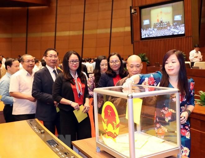 Hình ảnh các đại biểu Quốc hội bỏ phiếu bầu Chủ tịch nước - ảnh 5