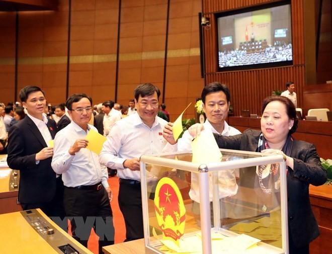 Hình ảnh các đại biểu Quốc hội bỏ phiếu bầu Chủ tịch nước - ảnh 6