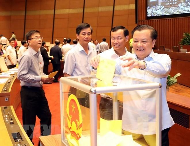 Hình ảnh các đại biểu Quốc hội bỏ phiếu bầu Chủ tịch nước - ảnh 8