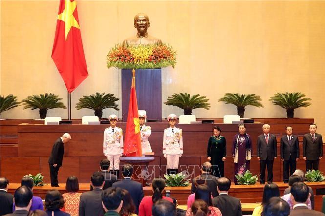 Hình ảnh Lễ tuyên thệ của Chủ tịch nước Nguyễn Phú Trọng - ảnh 3