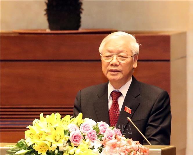Hình ảnh Lễ tuyên thệ của Chủ tịch nước Nguyễn Phú Trọng - ảnh 4