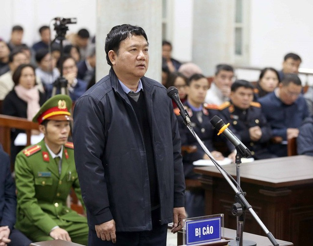 Ông Đinh La Thăng tại một phiên toà.