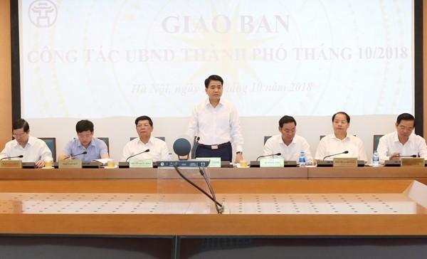 Chủ tịch UBND TP Hà Nội chỉ đạo tại buổi giao ban