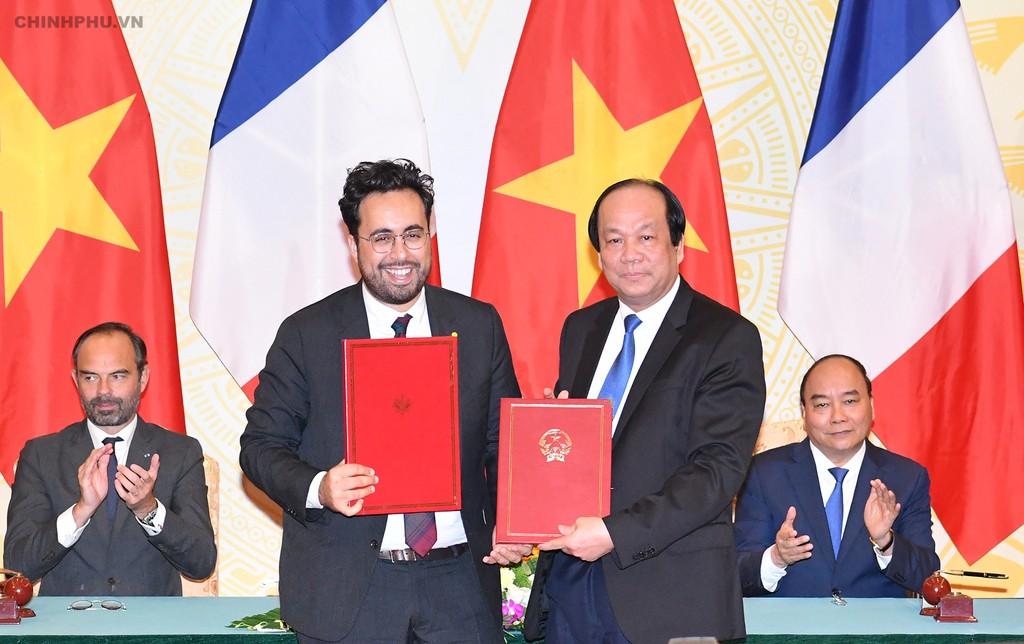 Thủ tướng Việt Nam, Pháp nhất trí thúc đẩy hợp tác phát triển chính phủ điện tử - ảnh 4
