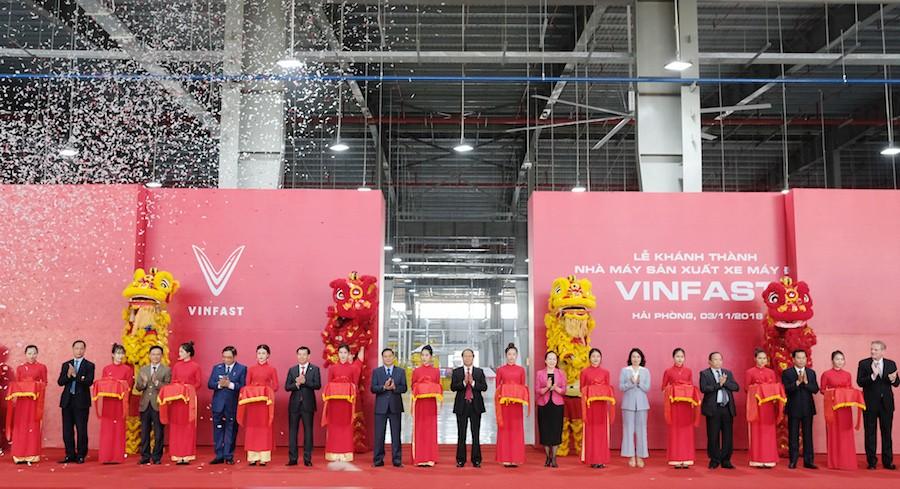 Khánh thành Nhà máy sản xuất xe máy điện thông minh VinFast