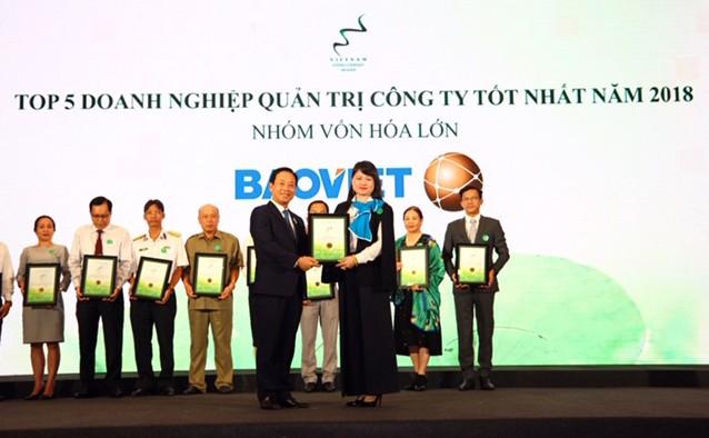 Tập đoàn Bảo Việt lập hattrick giải thưởng Vietnam Listed Company Awards 2018