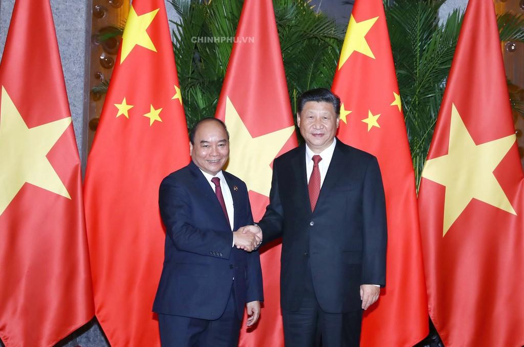 Thủ tướng Nguyễn Xuân Phúc và Chủ tịch nước CHND Trung Hoa Tập Cận Bình. Ảnh: VGP