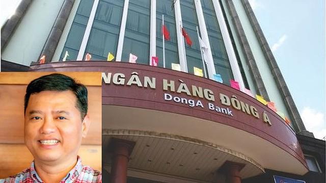 Bị can Nguyễn Huỳnh Đăng (ảnh nhỏ) đang bị truy nã.Theo nội dung vụ án, Trần Phương Bình (nguyên Tổng giám đốc, Phó chủ tịch HĐQT và Chủ tịch Hội đồng tín dụng Ngân hàng TMCP Đông Á) biết rõ DongABank không có giấy phép kinh doanh ngoại hối nhưng vẫn chỉ