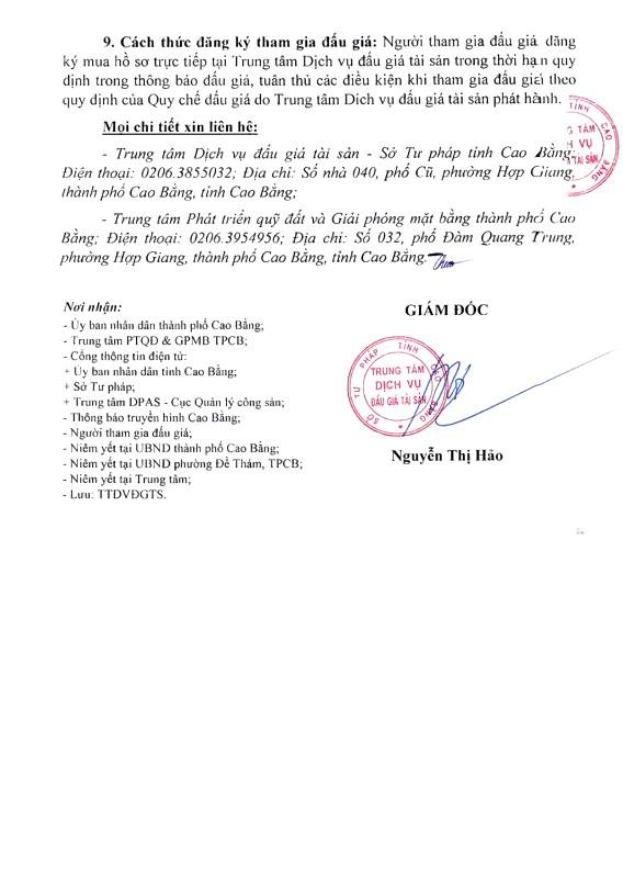 Ngày 17/11/2018, đấu giá quyền sử dụng đất tại thành phố Cao Bằng, tỉnh Cao Bằng - ảnh 3