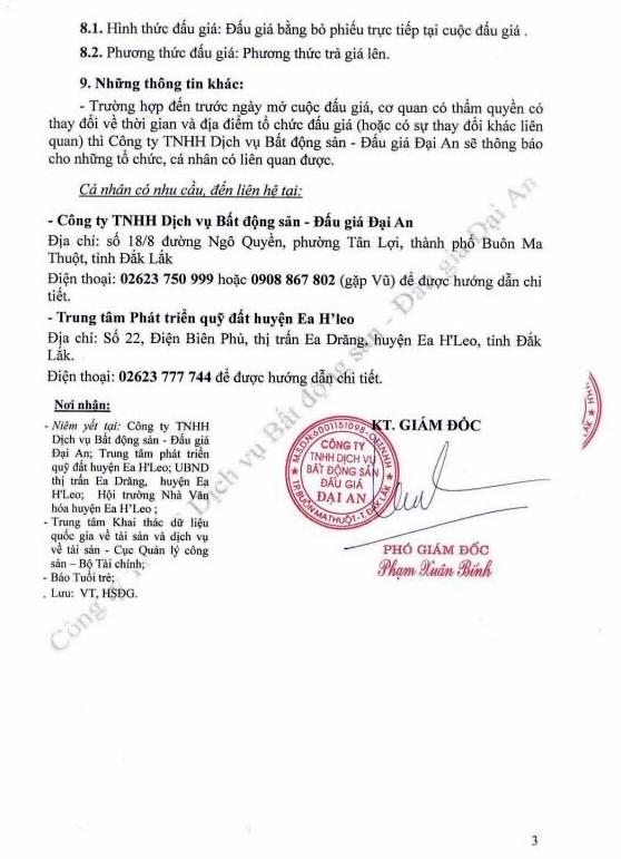 Ngày 22/11/2018, đấu giá quyền sử dụng đất tại huyện Ea H'Leo, tỉnh Đắk Lắk - ảnh 3