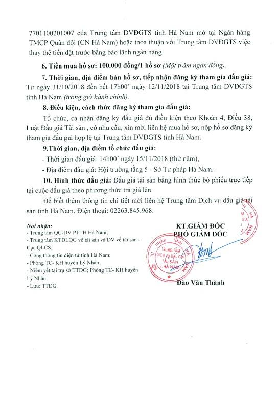 Ngày 15/11/2018, đấu giá vật tư thanh lý sau khi tháo dỡ công trình tại Hà Nam - ảnh 2