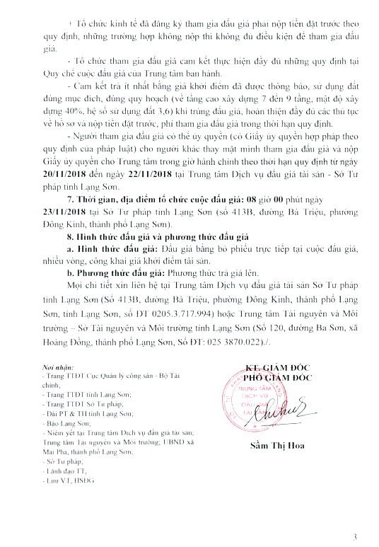 Ngày 23/11/2018, đấu giá quyền sử dụng đất tại thành phố Lạng Sơn, tỉnh Lạng Sơn - ảnh 3