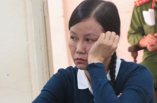 Bị cáo Phùng Mỹ Giang tại phiên tòa.