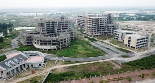 Các hạng mục xây dựng của dự án bệnh viện đa khoa tỉnh Nam Định.