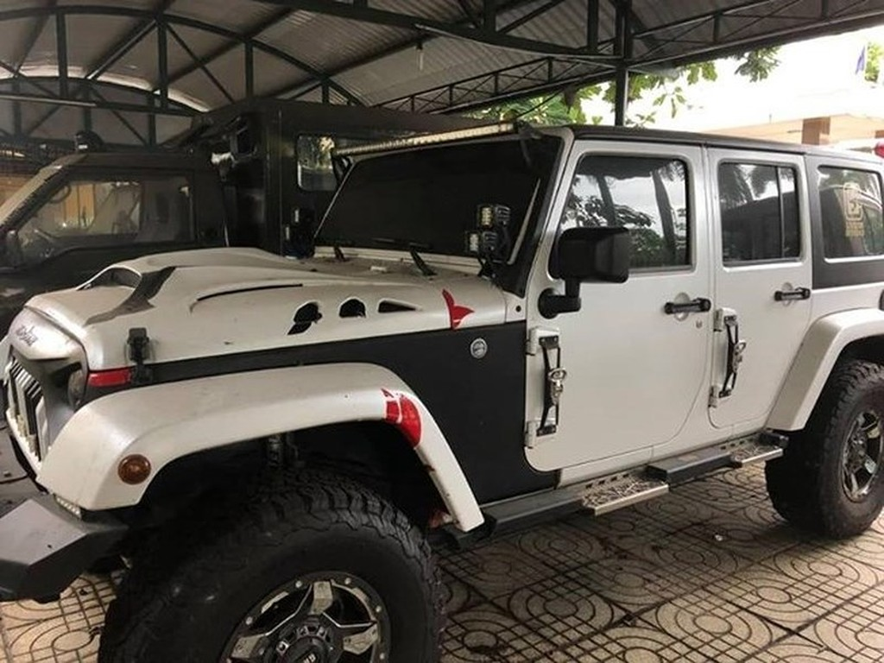 Chiếc xe jeep đưa ra đấu giá.