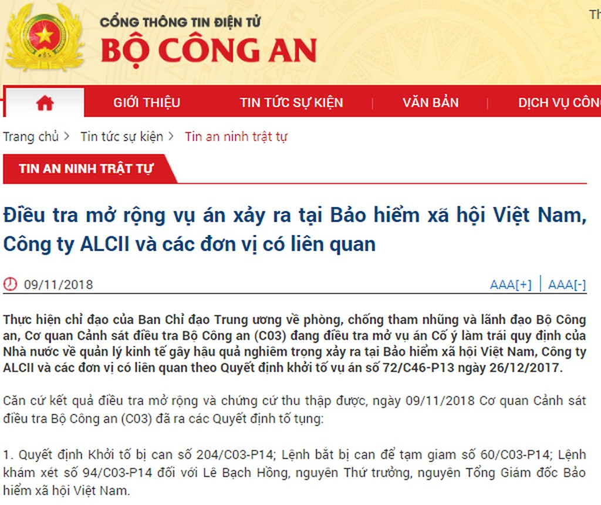 Bắt tạm giam nguyên Thứ trưởng, nguyên Tổng Giám đốc BHXH Việt Nam Lê Bạch Hồng - ảnh 1