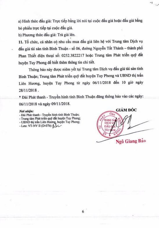 Ngày 29/11/2018, đấu giá quyền sử dụng 34 lô đất tại huyện Tuy Phong, tỉnh Bình Thuận - ảnh 6
