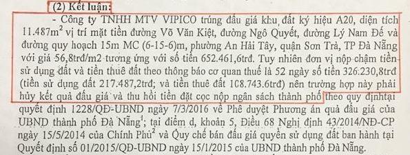 Đà Nẵng lên tiếng vụ hủy kết quả đấu giá lô đất 652 tỷ - ảnh 1