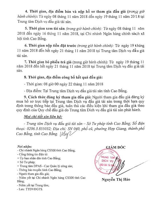 Ngày 22/11/2018, đấu giá xe ô tô tại tỉnh Cao Bằng - ảnh 2
