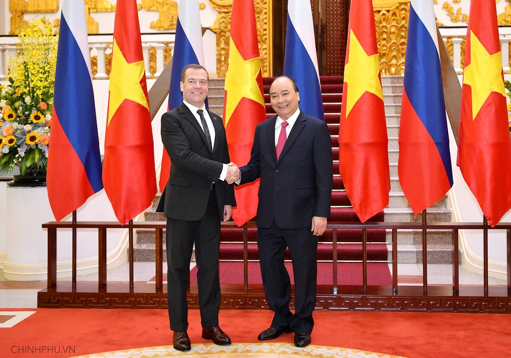 Chùm ảnh: Thủ tướng Nguyễn Xuân Phúc đón Thủ tướng Nga - ảnh 4