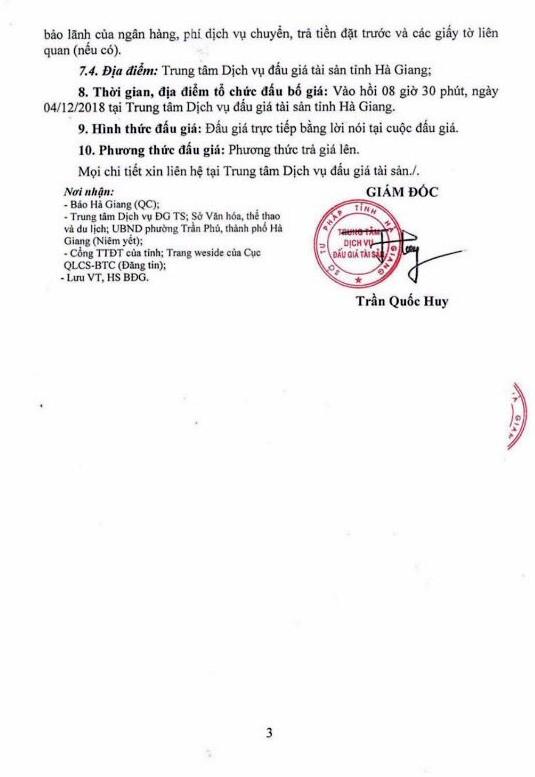 Ngày 04/12/2018, đấu giá quyền sử dụng đất và tài sản trên đất tại thành phố Hà Giang, tỉnh Hà Giang - ảnh 3