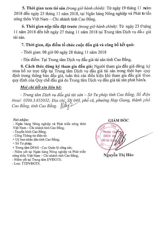 Ngày 28/11/2018, đấu giá xe ô tô Isuzu tại tỉnh Cao Bằng - ảnh 2
