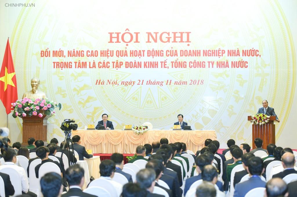 Thủ tướng Chính phủ Nguyễn Xuân Phúc phát biểu chỉ đạo tại hội nghị. Ảnh: VGP