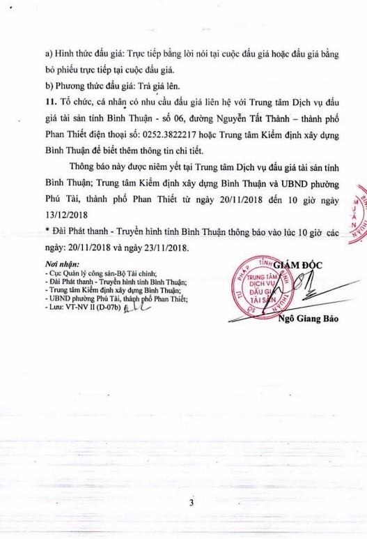 Ngày 14/12/2018, đấu giá cho thuê quyền sử căn hộ chung cư Văn Thánh B tại thành phố Phan Thiết, tỉnh Bình Thuận   - ảnh 3