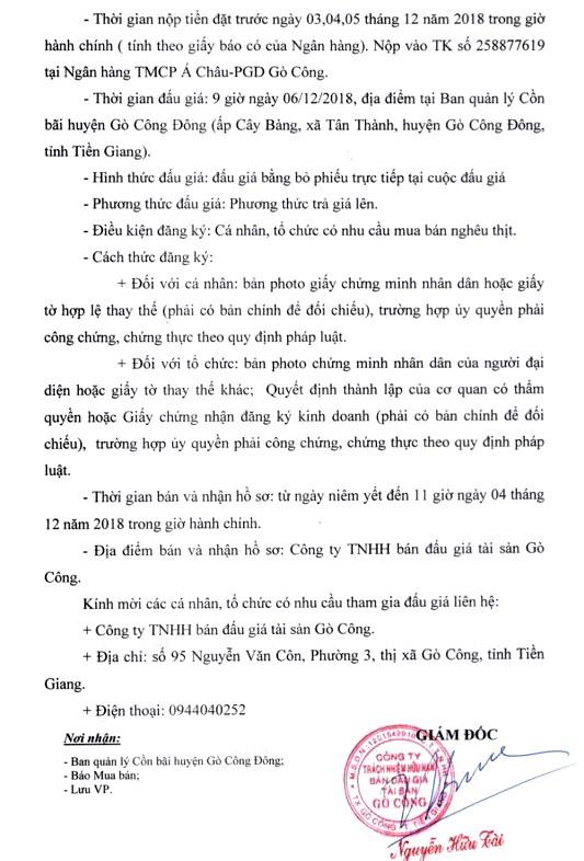 Ngày 6/12/2018, đấu giá Nghêu thịt tại tỉnh Tiền Giang   - ảnh 2