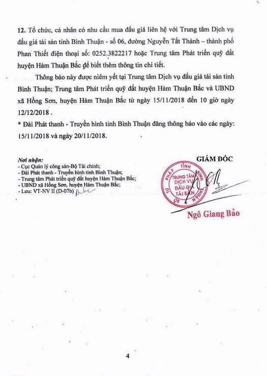 Ngày 13/12/2018, đấu giá quyền sử dụng 16 lô đất tại huyện Hàm Thuận Bắc, tỉnh Bình Thuận - ảnh 4