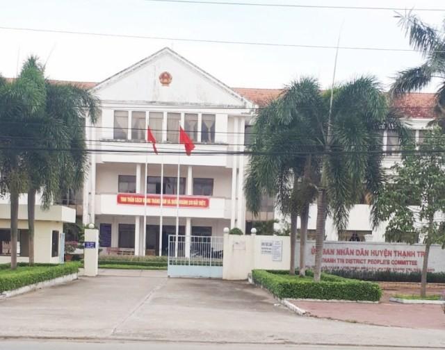 UBND huyện Thạnh Trị, nơi ông Mai Thanh Ngon làm Chủ tịch huyện.
