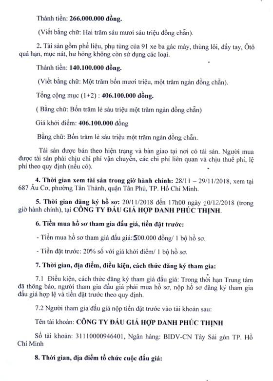 Ngày 11/12/2018, đấu giá tang vật vi phạm hành chính tịch thu tại Hà Nội - ảnh 2