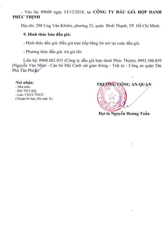 Ngày 11/12/2018, đấu giá tang vật vi phạm hành chính tịch thu tại Hà Nội - ảnh 3