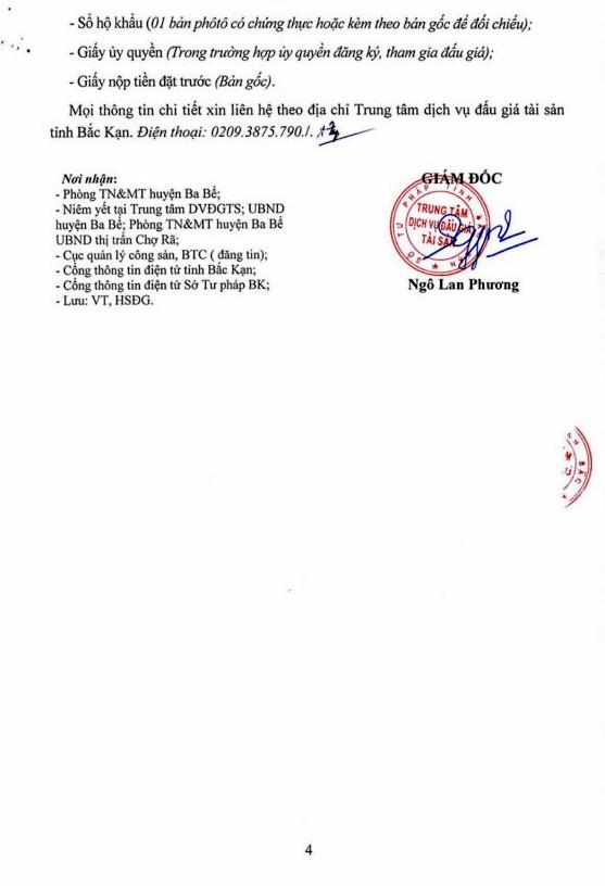 Ngày 21/12/2018, đấu giá quyền sử dụng đất tại huyện Ba Bể, tỉnh Bắc Kạn - ảnh 4