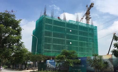 Một dự án nhà ở xã hội tại Đông Anh, Hà Nội. Ảnh: CĐT