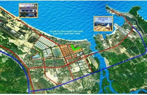 Phối cảnh Khu đô thị công nghiệp Dung Quất