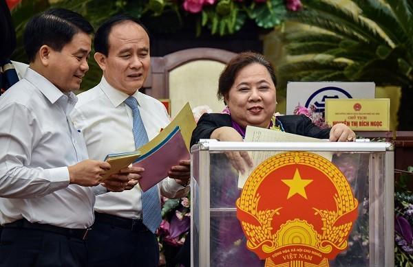 Chủ tịch HĐND TP Hà Nội Nguyễn Thị Bích Ngọc là người có nhiều phiếu tín nhiệm cao nhất