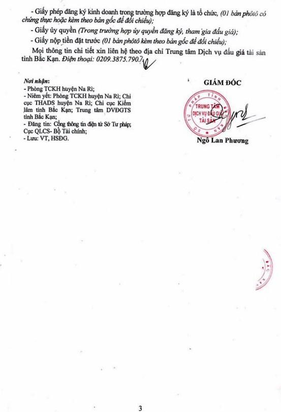 Ngày 11/12/2018, đấu giá quyền sử dụng đất tại huyện Na Rì, tỉnh Bắc Kạn - ảnh 3