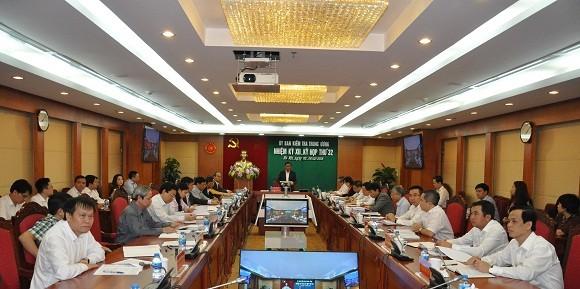 Ủy ban Kiểm tra Trung ương thông báo Kỳ họp 32