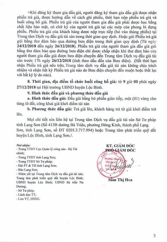 Ngày 27/12/2018, đấu giá quyền sử dụng 30 lô đất tại huyện Lộc Bình, tỉnh Lạng Sơn - ảnh 3