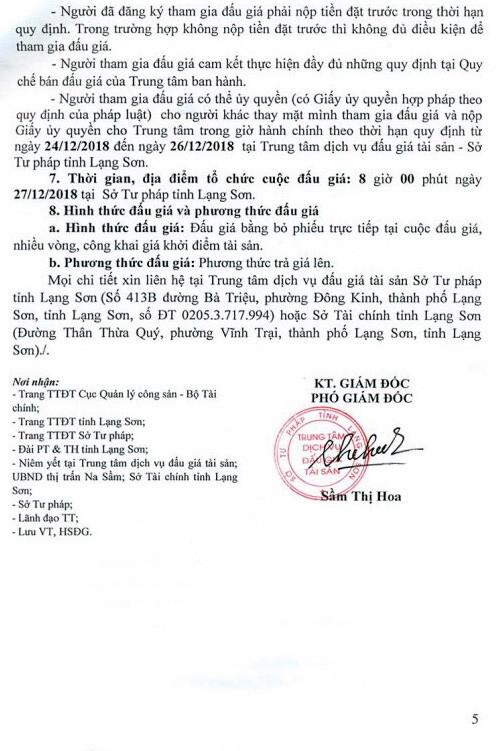 Ngày 27/12/2018, đấu giá quyền sử dụng đất và tài sản trên đất tại huyện Văn Lãng, tỉnh Lạng Sơn - ảnh 5