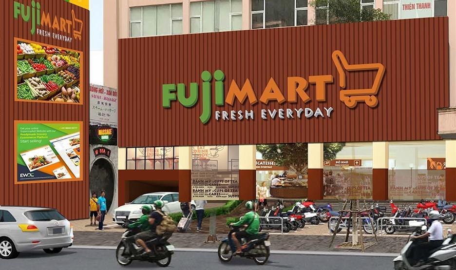 Mặt tiền siêu thị FujiMart