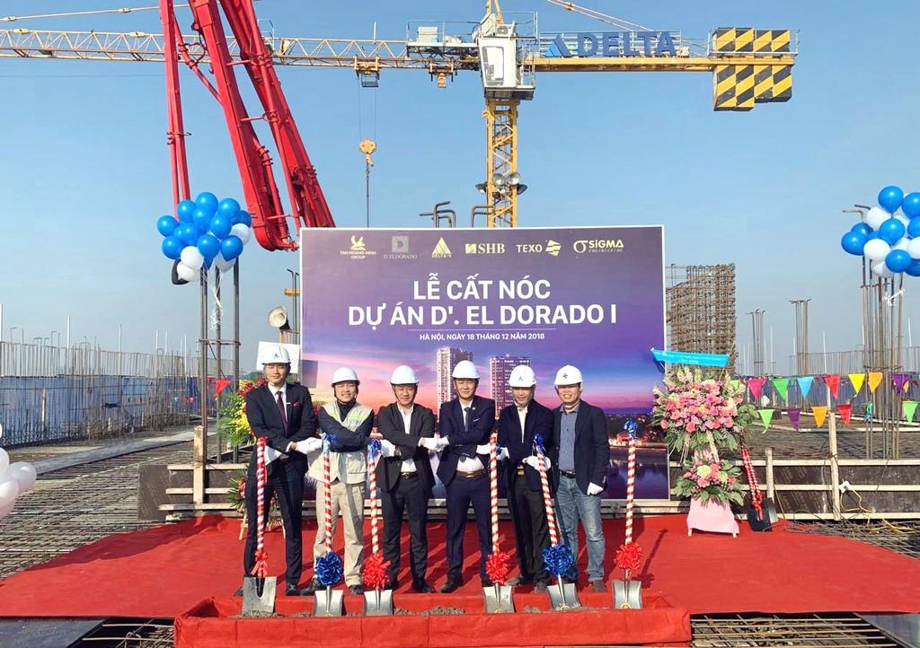 Tân Hoàng Minh chính thức cất nóc dự án D'. El Dorado I - ảnh 1