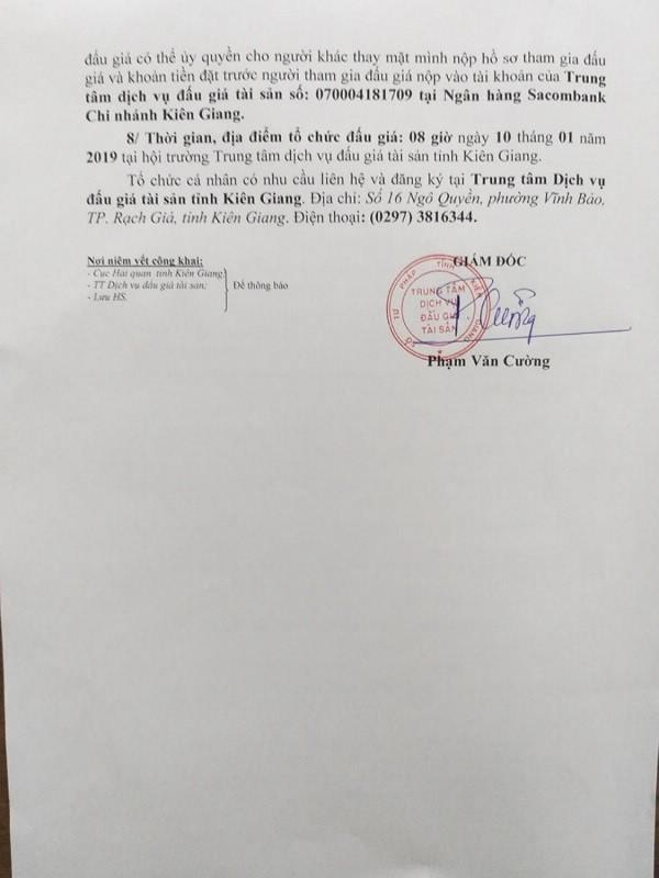 Ngày 10/01/2019, đấu giá 53 kg tổ yến dạng thô tại tỉnh Kiên Giang - ảnh 2