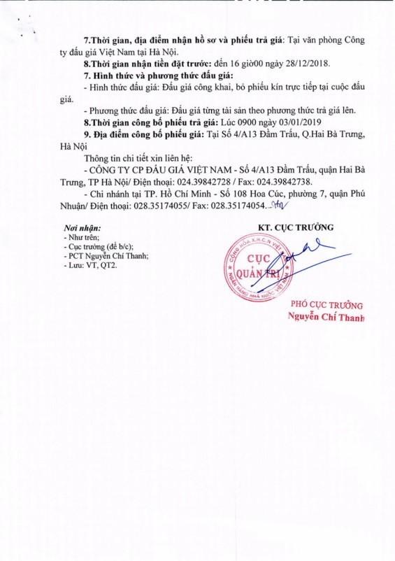 Ngày 03/01/2019, đấu giá hệ thống điều hòa không khí tại Hà Nội - ảnh 2